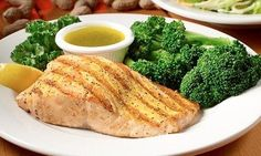 Delicious Salmon and Veggie Platter at Logan's Roadhouse