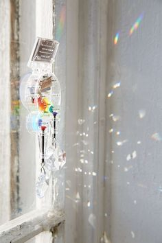 We love this Double Rainbow Maker, simply hang in front of any window or light fixture and voila, instant rainbow fix.
