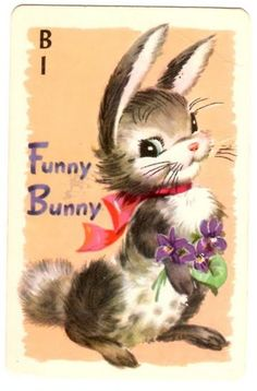 Funny Bunny Rummy Card-played with this deck as a child.