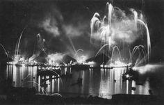 Celebración año nuevo en el mar.  (c.1955)