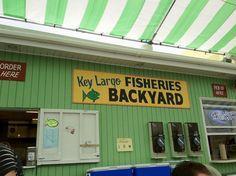 KEY LARGO FISHERIES BACKYARD, KEY LARGO: Key Largo Florida, Florida Keys, Fl Keys, Key Largo Restaurants, Backyard Cafe, Visit Florida, Key Photo, Cafe Menu, Beach Bars