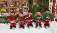 Custom miniature Dolls and Clothing - Winter pixie kids originals Sept 2012 Artisan Silke Janas-Schloesser