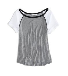 Delray Grey AE Open Back Baseball T-Shirt
