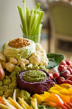 """CABBAGE DIP BOWLS"", perfect for your holiday veggie tray & waistline!"