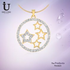 Designer Diamond Pendants Online | IskiUski Browse through a wide selection of #gold and #studded #pendants from IskiUski. Shop for the best pendant #designs here!!