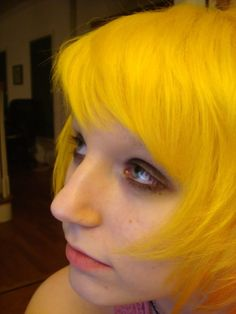 Yellow hair.