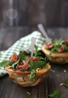 salad in edible bowl