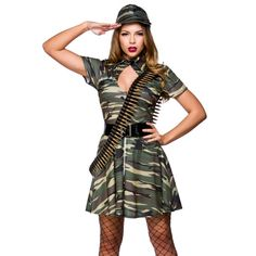 military costumes for adults Army Fancy Dress, Ladies Fancy Dress, Costume Hats, Adult Costumes, Military Costumes, Baby Dolphins, Military Army, Outfits With Hats, Punk