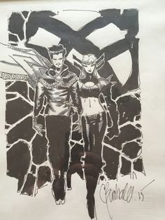Magik+and+Dr.+Strange+by+Chris+Bachalo+Comic+Art