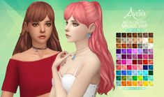 Aveira Sims 4: Moon Craters Minako Hair recolor  - Sims 4 Hairs - http://sims4hairs.com/aveira-sims-4-moon-craters-minako-hair-recolor/