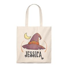 Custom name Halloween candy bag, witch hat, Halloween bag personalized name Halloween Candy Bags, Wicca, Washing Clothes, Reusable Tote Bags, Trending Outfits, Hats, Handmade Gifts, Diy, Kid Craft Gifts