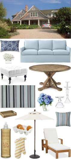 CHIC COASTAL LIVING: Something's Gotta Give Beach House: Get The Look
