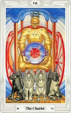 VII - Le chariot - Tarot Thoth par Aleister Crowley
