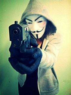 """""""Are hackers a threat? The degree of threat presented by any conduct, whether legal or illegal, depends on the actions and intent of the individual and the harm they cause. Hacker Art, Anbu Mask, Guy Fawkes Mask, Anonymous Mask, Hacker Wallpaper, Galaxy Pictures, V For Vendetta, Pablo Escobar, Masked Man"""