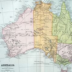 Vintage Australian Map: I would like to visit Alexandraland