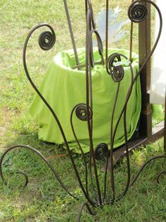 rusty metal trellisscreen twisted metal fern Garden decor