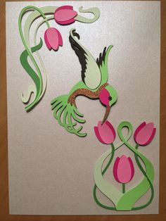 Cricut Art Nouveau cartridge (hummingbird and tulips)