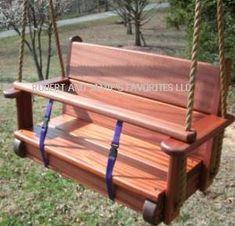 Wooden Swing Chair, Wood Swing, Backyard Projects, Wood Projects, Baby Swings, Tree Swings, Ideas Decorar Habitacion, Design Dragon, Swing Design