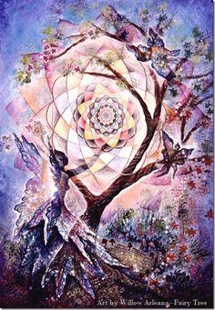 Fairy Tree of life by Willow Arlenea (tumblr)