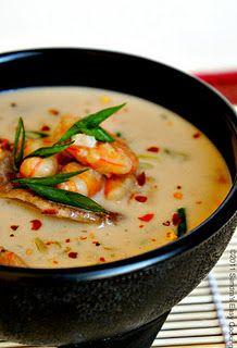 Shrimp Coconut Soup with Shiitake Mushrooms