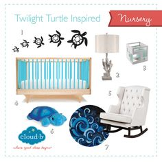 What's your favorite piece from this Twilight Turtle Inspired Nursery? #CloudB