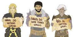 Anders, Hawke, & Fenris. Dragon Age: II