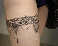 ideas about Garter Tattoos on Pinterest | Tattoos Lace garter tattoos ...
