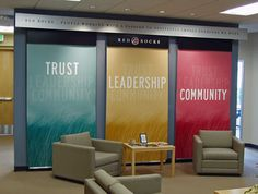 corporate graphic design display wall - Google Search
