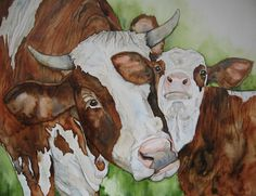 Mother and Calf by Betty Kloosterman