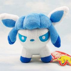 "Collectible Anime Pokemon Pocket Monster Glaceon Kids Plush Soft Toys Dolls 5"" #Unbranded"