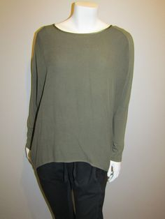 lagenlook top 24447c khaki My Style, Blouse, Long Sleeve, Sleeves, Collection, Tops, Women, Fashion, Moda