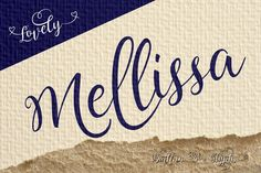 Lovely Melissa 40% OFF by fontdroe on Creative Market