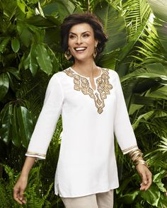 The White Summer Blouse – Golden Crafted Kita Top #chicos