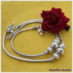 German silver Payals/Anklets - Online Shopping for Earrings by GAYATHRI JEWELS