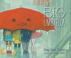 The Big Umbrella by Amy June Bates Carlisle, Book Club Books, Book Lists, Kid Books, Story Books, Baby Books, Books About Kindness, Big Umbrella, Sweet Stories