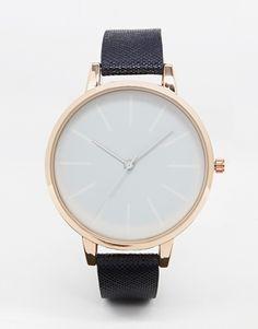 ASOS – Armbanduhr mit großem Zifferblatt mit Farbverlauf