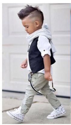 Adorable little people fashion | Boys! No way + haircut and everything! #PrettyPerfectKids Fashionista Kiddos // Pretty Perfect Living