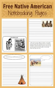 Free Native American #notebooking pages and links to free ebooks