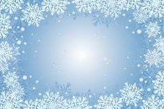 Blue Christmas Card Background With Snowflakes Royalty Free ...