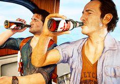Uncharted 4 Sam et Nathan Drake