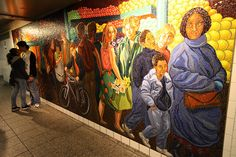 NYC subway art. I love all the beautiful tiles and wall art in the subways..