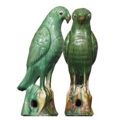 Chinese Tang dynasty parrots.