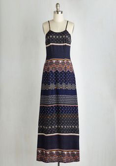 Sea Breeze on By Dress. The elation you feel from the ocean-spritzed air breezing by your printed maxi dress leaves you feeling light on your feet! #multi #modcloth