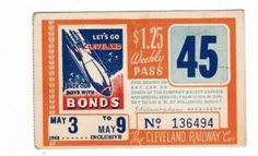 Weekly pass from Cleveland (Ohio) Railway Company (1942)