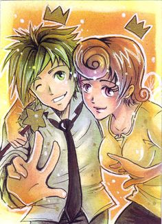 Cosmo and Wanda xD by Kaoruyagi Cosmo And Wanda, The Fairly Oddparents, Fairly Odd Parents, Anime Version, Art Memes, Geek Out, Movies Showing, Cosmos, Cute Couples