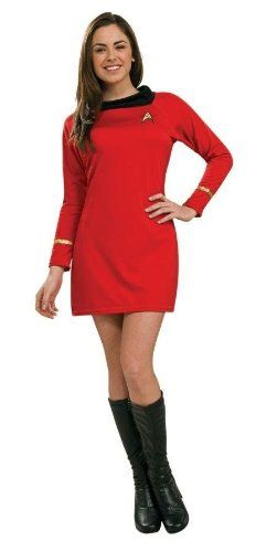 Costumes For All Occasions Ru889061Xs Star Trek Classic Red Dress Xs @ niftywarehouse.com