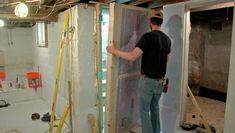 Insulate Your Basement, Part 3 - Fine Homebuilding Basement Insulation, Rigid Insulation, Door Insulation, Basement Doors, Basement Flooring, Home Building Tips, Building A House, Baluster Spacing, Bulkhead Doors