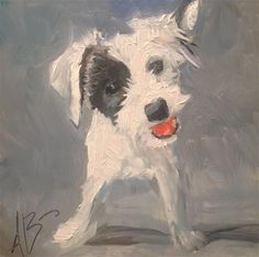 """Daily Paintworks - """"Play with me!"""" - Original Fine Art for Sale - © Annette Balesteri"""