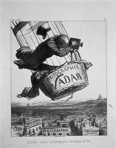 Nadar Raising Photography to the Height of Art. Honoré Daumier. 1862 C.E. Lithograph.