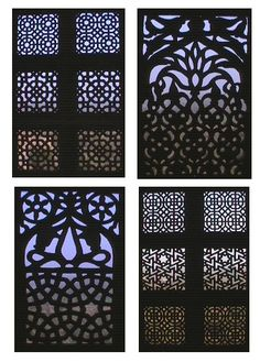 """""""In the above example we can see how islamic pattern of jali has inspired this building facade which uses motorized screens to control the amount of light entering the building but in a unique artistic way. Screen Design, Facade Design, Islamic Architecture, Art And Architecture, Islamic Patterns, Arabic Pattern, Arabic Design, Moorish, Painting Patterns"""